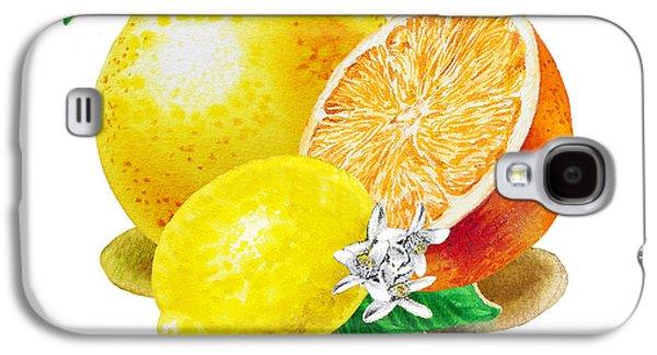 A Happy Citrus Bunch Grapefruit Lemon Orange Galaxy S4 Case
