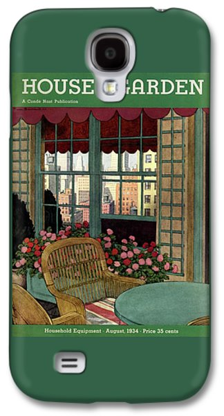 A House And Garden Cover Of A Wicker Chair Galaxy S4 Case by Pierre Brissaud
