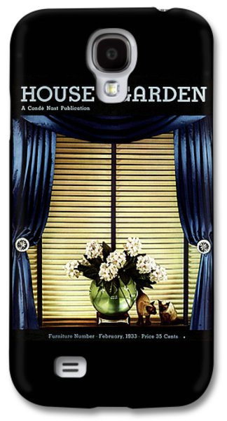 A House And Garden Cover Of Flowers By A Window Galaxy S4 Case