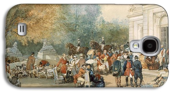 A Hunting Breakfast In England, 1870 Galaxy S4 Case by Eugene-Louis Lami