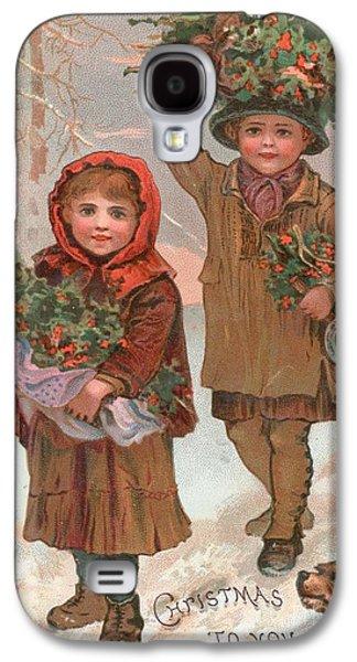 A Joyful Christmas To You   Victorian Christmas Card  Galaxy S4 Case