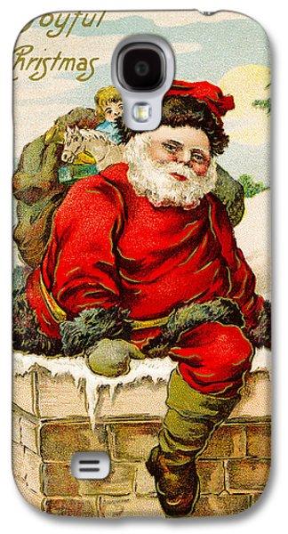 A Joyful Christmas Galaxy S4 Case by Vintage Christmas Card