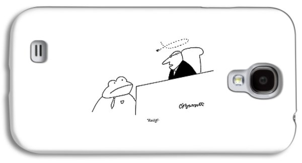 A Judge Speaks To The Bailiff Galaxy S4 Case by Charles Barsotti