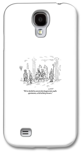 Dungeon Galaxy S4 Case - A King And Queen In The Royal Court Give Orders by David Sipress