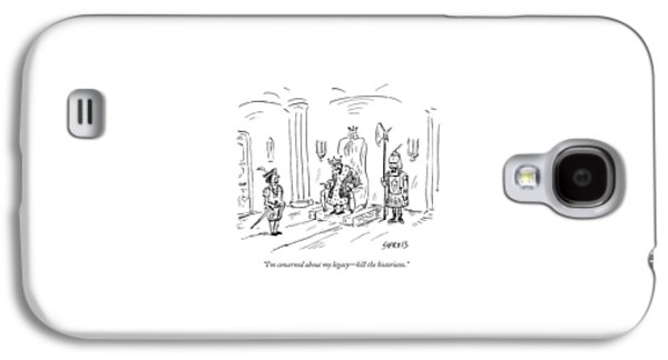 A King Gives Orders To His Soldier Galaxy S4 Case by David Sipress