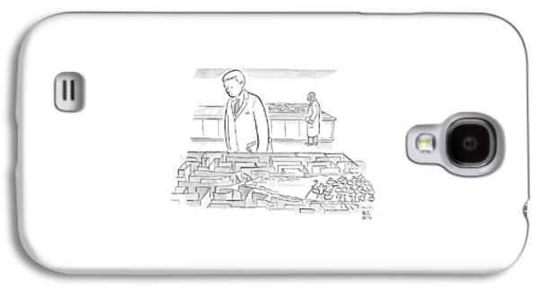 A Laboratory Scientist Looks On As The Walls Galaxy S4 Case by Paul Noth