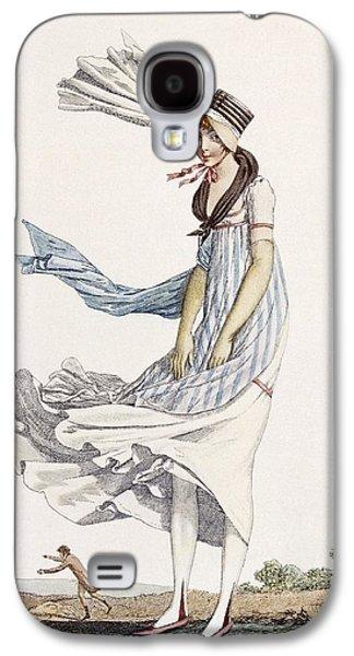A Ladies Summer Promenade Dress, 1800 Galaxy S4 Case by Philibert Louis Debucourt