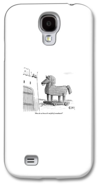 Ancient Galaxy S4 Case - A Large Wooden Horse by Christopher Weyant