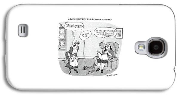 A Late Entry For Poor Richard's Almanac Galaxy S4 Case by J.B. Handelsman