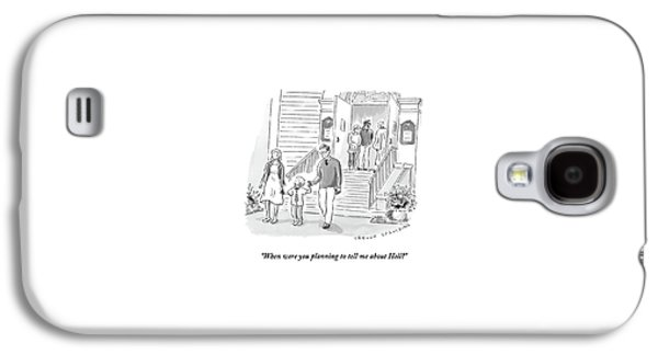 A Little Boy Speaks To His Parents Galaxy S4 Case by Trevor Spaulding