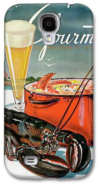 A Lobster And A Lobster Pot With Beer Galaxy S4 Case by Henry Stahlhut
