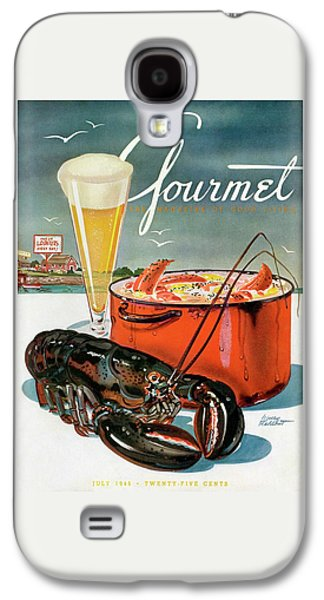A Lobster And A Lobster Pot With Beer Galaxy S4 Case