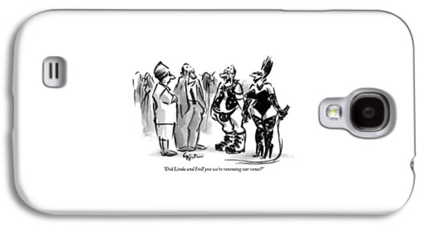 A Man And A Women Are Seen Dressed In S&m Gear Galaxy S4 Case