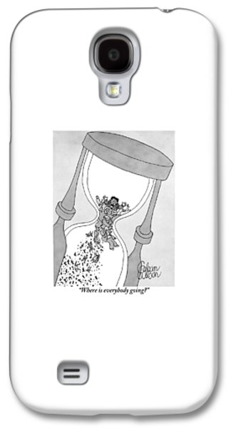 A Man Cries Out From Within A Giant Hourglass Galaxy S4 Case