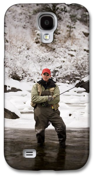 Fort Collins Galaxy S4 Case - A Man Fly Fishing On The Cache La by Tom Bol