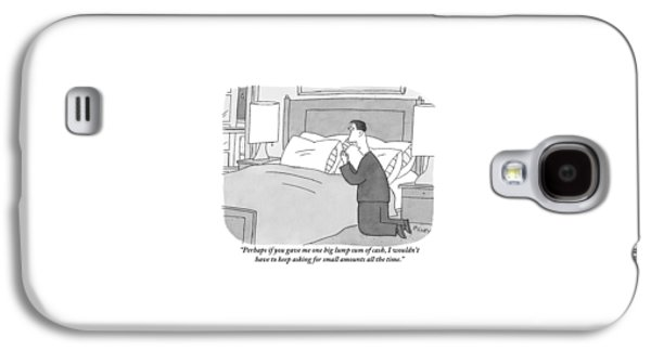 A Man Kneels Beside His Bed Galaxy S4 Case
