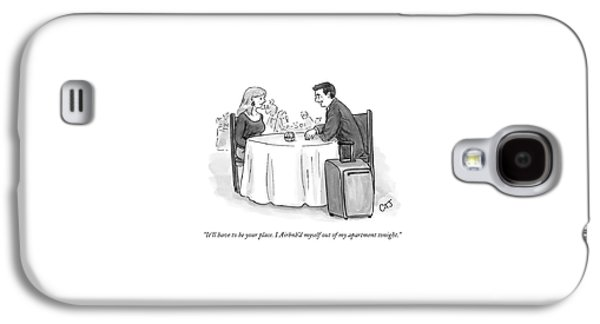 A Man Speaks To A Woman On A Date At A Restaurant Galaxy S4 Case