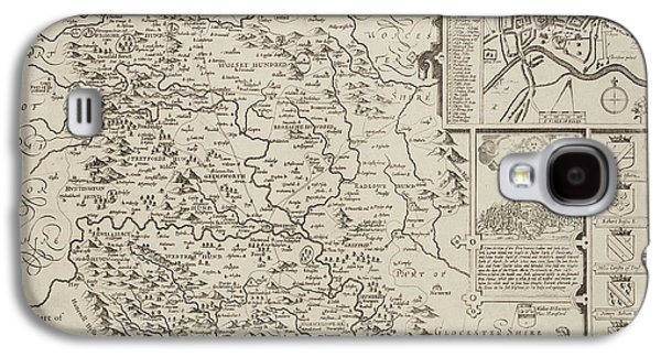 A Map Of Herefordshire Drawn In 1714 Galaxy S4 Case by British Library