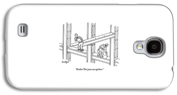 Escher Get Your Ass Up Here Galaxy S4 Case