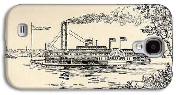 A Mississippi Steamer Off St Louis From American Notes By Charles Dickens  Galaxy S4 Case