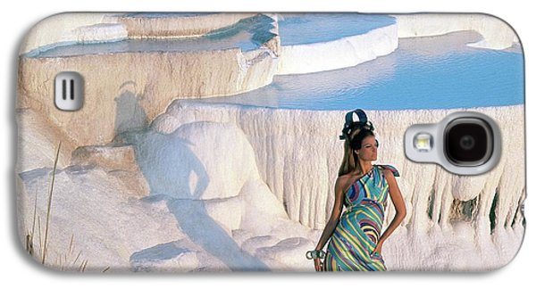 A Model On The Cliffs Of Pamukkale Galaxy S4 Case by Henry Clarke