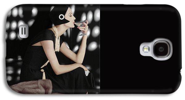 A Model Wearing A Branell Dress Galaxy S4 Case by Karen Radkai