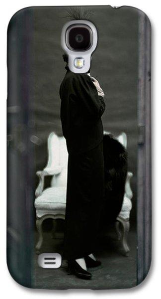 A Model Wearing An Adele Simpsons Ensemble Galaxy S4 Case by John Rawlings