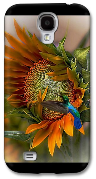 Sunflower Galaxy S4 Case - A Moment In Time by John  Kolenberg