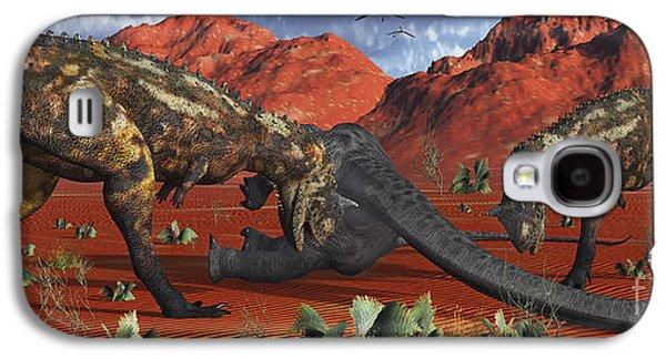 A Pair Of Carnotaurus Dinosaurs Ready Galaxy S4 Case