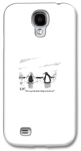 North Galaxy S4 Case - A Penguin Is Seen Talking To Another Penguin by Christopher Weyant