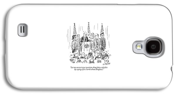 A Politician Speaks At A Podium Galaxy S4 Case