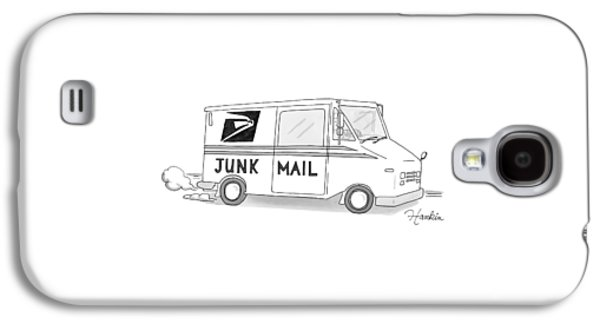 A Postal Truck Has The Phrase Junk Mail Galaxy S4 Case by Charlie Hankin