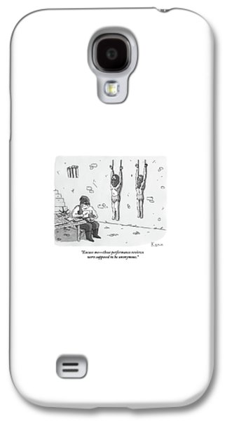Dungeon Galaxy S4 Case - A Prisoner In A Dungeon Speaks To A Torturer Who by Zachary Kanin
