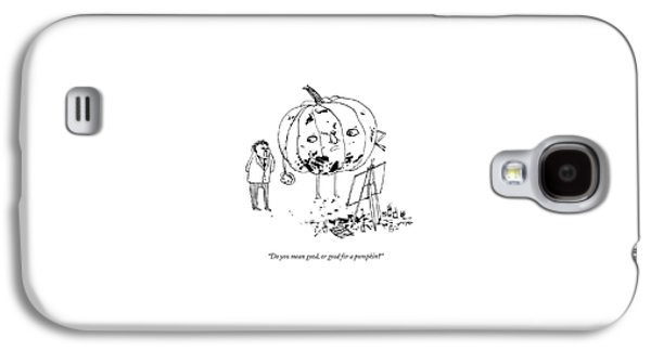 A Pumpkin With A Face And Legs Holds A Paintbrush Galaxy S4 Case