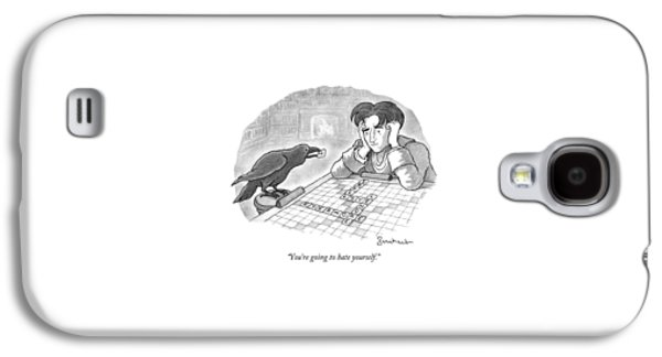 A Raven Is About To Add An N To The Word Evermore Galaxy S4 Case by David Borchart
