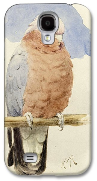 Cockatoo Galaxy S4 Case - A Rose Breasted Cockatoo by Henry Stacey Marks