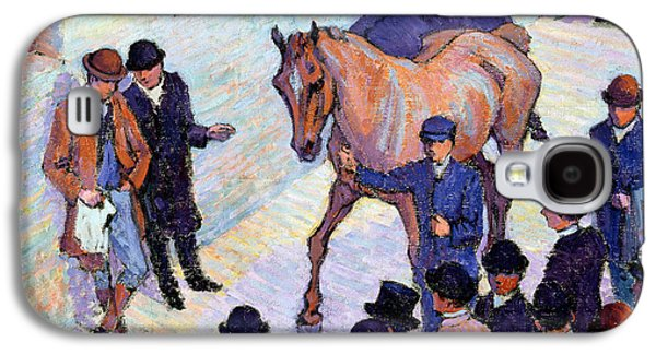 A Sale At Tattersalls, 1911 Galaxy S4 Case by Robert Polhill Bevan