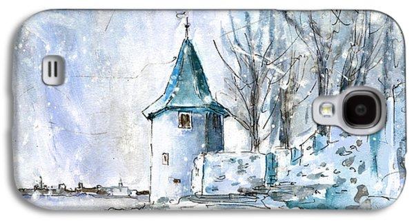 A Seagull In Winter In Lindau Galaxy S4 Case by Miki De Goodaboom
