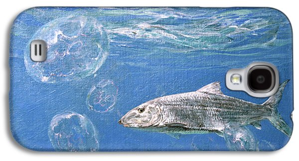 A Single Bonefish Glides Among Galaxy S4 Case by Stanley Meltzoff / Silverfish Press