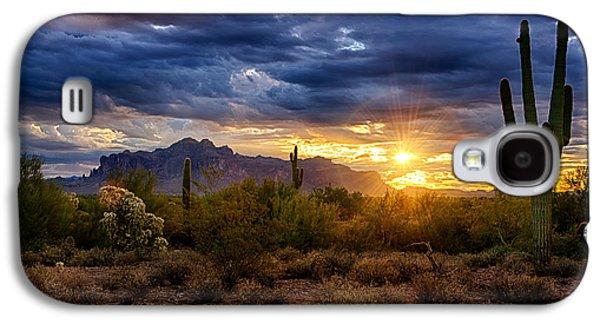 A Sonoran Desert Sunrise Galaxy S4 Case
