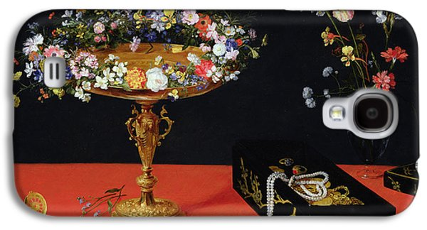 A Still Life Of A Tazza With Flowers  Galaxy S4 Case by Jan the Younger Brueghel