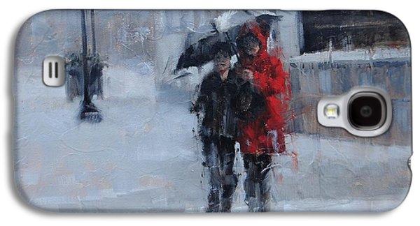 A Stroll In The Rain Galaxy S4 Case by Laura Lee Zanghetti