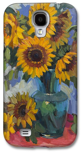 A Sunflower Day Galaxy S4 Case by Diane McClary
