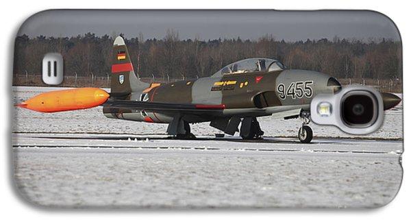A T-33 Shooting Star Trainer Jet Galaxy S4 Case by Timm Ziegenthaler
