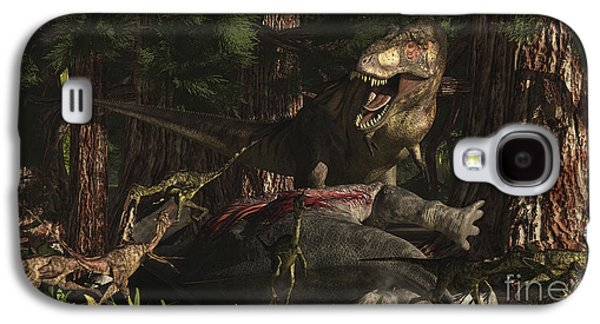 A T-rex Returns To His Kill And Finds Galaxy S4 Case