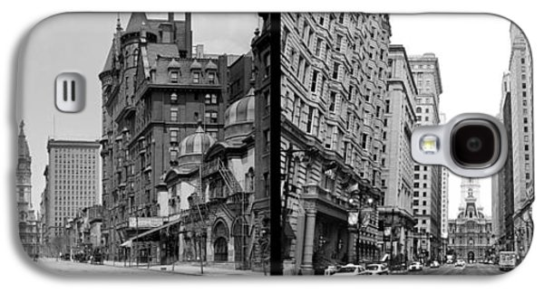 A Tail Of Two Cities - South Broad Then And Now Galaxy S4 Case by Bill Cannon