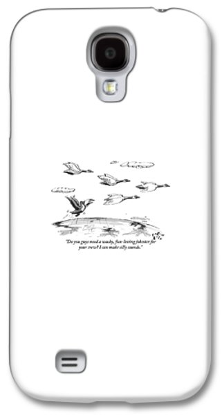 Toucan Galaxy S4 Case - A Toucan Tries To Catch Up With Migrating Canada by Farley Katz