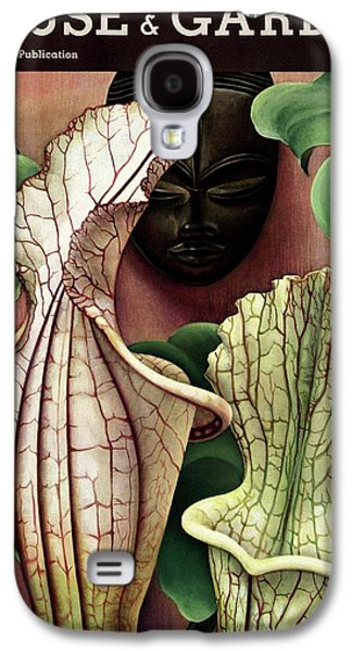 A Tropical Flower And An African Mask Galaxy S4 Case by Edna Reindel