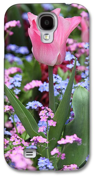 A Tulip At Luxembourg Gardens, Paris Galaxy S4 Case by William Sutton