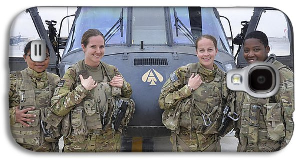 Helicopter Galaxy S4 Case - A U.s. Army All Female Crew by Stocktrek Images